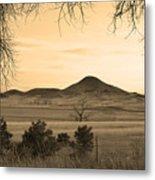 Haystack Mountain - Boulder County Colorado - Sepia Evening Metal Print