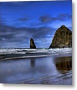 Haystack Rock And The Needles Metal Print
