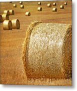 Haystacks Metal Print