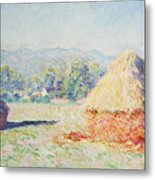 Haystacks In The Sun Metal Print