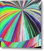 Hazelnut Abstract Metal Print