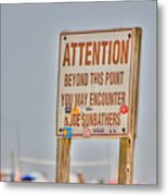 Hdr Sunbather Sign Beach Beaches Ocean Sea Photos Pictures Buy Sell Selling New Photography Pics  Metal Print