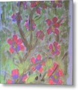 Hds-acrylic Floral Green Metal Print