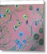 Hds-acrylic-floral-pink Metal Print