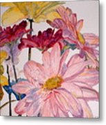 He Loves Me - Watercolor Metal Print