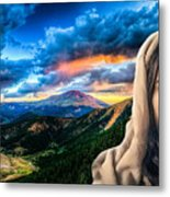 He Watches Over Me Metal Print