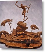 He Who Saved The Deer Complete Metal Print
