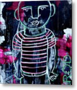 He Wore Stripes Metal Print