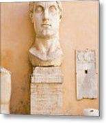 Head From The Statue Of Constantine, Rome, Italy Metal Print