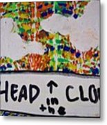 Head In The Clouds Metal Print