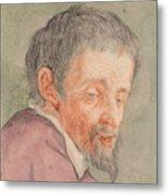 Head Of A Man With A Short Beard Metal Print