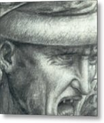 Head Of A Warrior, Copy Of A Detail From The Battle Of Anghiari Metal Print