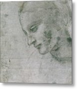 Head Of A Young Woman Or Head Of The Virgin Metal Print
