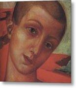 Head Of A Youth Kuzma Petrov-vodkin - 1910 Metal Print