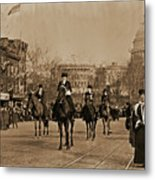Head Of Washington D.c. Suffrage Parade Metal Print