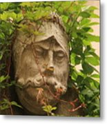 Head With Vines Metal Print