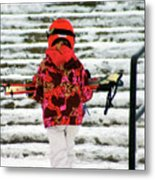Heading For The Slopes Metal Print