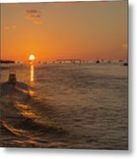 Heading Into The Sunset Metal Print