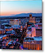 Heading North On The Strip Metal Print