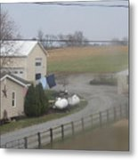 Heading To The Barn To Do Chores Metal Print