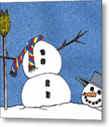 Headless Snowman Metal Print