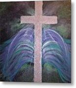 Healing In His Wings Metal Print