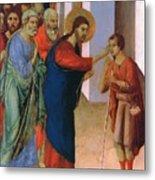 Healing The Man Born Blind Fragment 1311 Metal Print