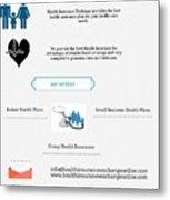 Health Insurance Exchange Online Metal Print