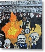 Hear No Evil See No Evil Judicial Abuse Metal Print