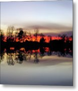 Hearns Pond Silhouette Metal Print