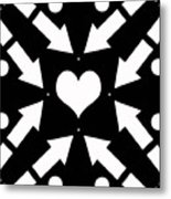Heart And Arrows Metal Print