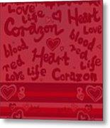 Heart Art Metal Print