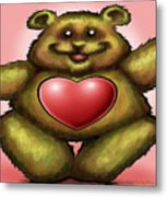 Heart Bear Metal Print