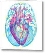 Heart Brain Metal Print