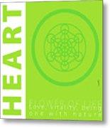 Heart Chakra Series Three Metal Print