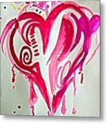 Heart Energy Metal Print