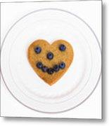 Heart Healthy Pancake Metal Print