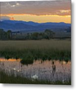 Heart Mountain Sunset Metal Print