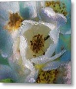 Heart Of A Dewy Flower Metal Print