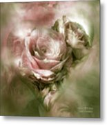 Heart Of A Rose - Antique Pink Metal Print