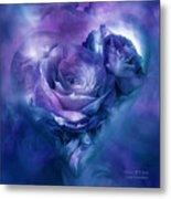Heart Of A Rose - Lavender Blue Metal Print