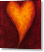 Heart Of Gold 2 Metal Print