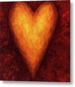 Heart Of Gold 3 Metal Print