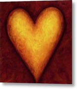 Heart Of Gold 4 Metal Print