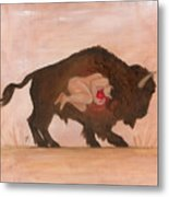 Heart Of The Buffalo Metal Print
