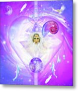 Heart Of The Violet Flame Metal Print