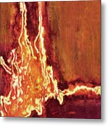 Heart On Fire Metal Print