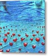 Heart Poppies Metal Print