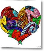 Heart Ribbons Metal Print