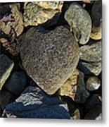 Heart Shaped Stone Loch Fyne  Metal Print